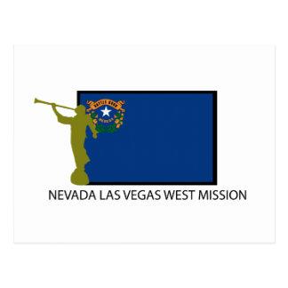 NEVADA LAS VEGAS WEST MISSION LDS CTR POSTCARD