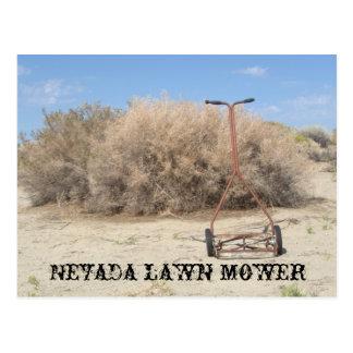 Nevada lawn mower postcard