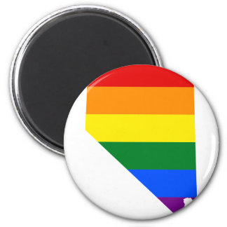Nevada LGBT Flag Map Magnet