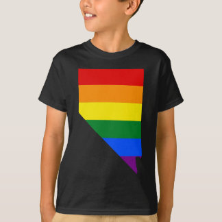 Nevada LGBT Flag Map T-Shirt