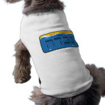 Nevada License Plate in Hebrew Dog T-shirt