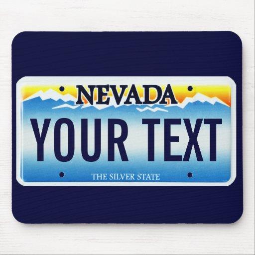 Nevada license plate mouse pad | Zazzle