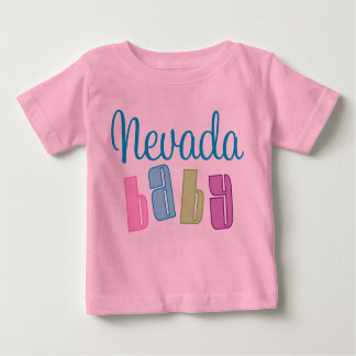Nevada lindo embroma la camiseta playera para bebé