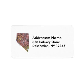 Nevada Map Address Label