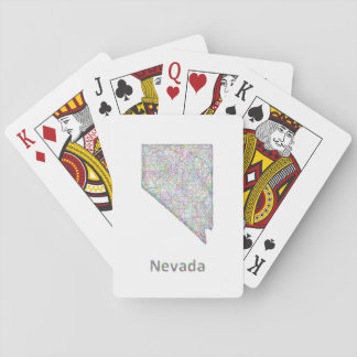 Nevada map card decks