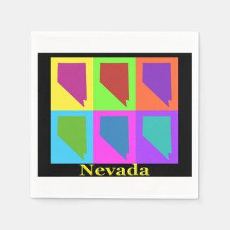 Nevada Map Paper Napkin