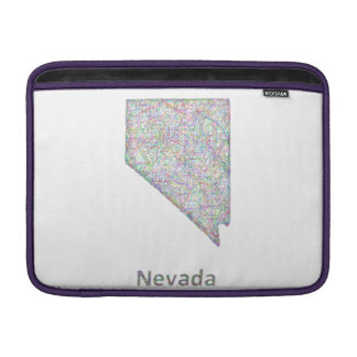 Nevada map sleeve for MacBook air