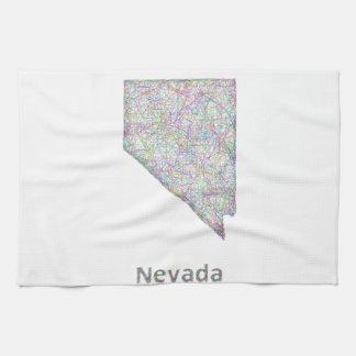 Nevada map towel