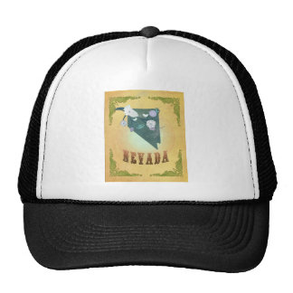 Nevada Map With Lovely Birds Trucker Hat