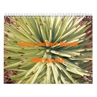 Nevada meridional escénico 2008 calendarios de pared