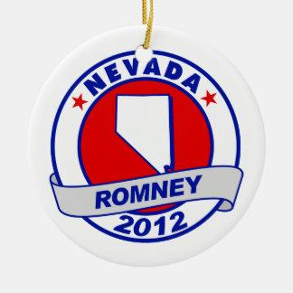 Nevada Mitt Romney Double-Sided Ceramic Round Christmas Ornament