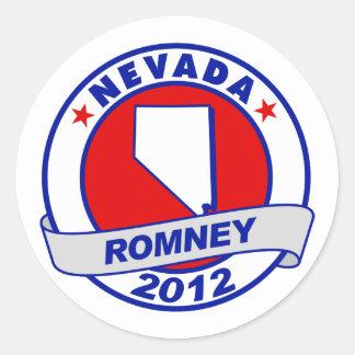 Nevada Mitt Romney Classic Round Sticker