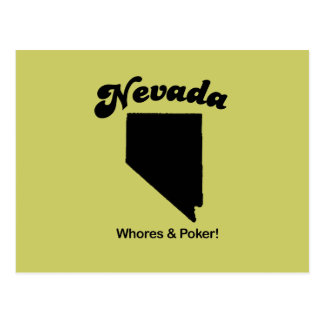 Nevada Motto - Whores and Poker Postcard
