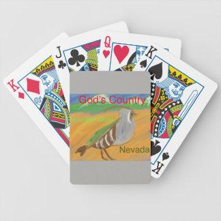Nevada Mountain Quail Bird Christian Playing Cards