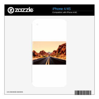 Nevada Mountains Road Highway Travel Landscape Skin For iPhone 4S