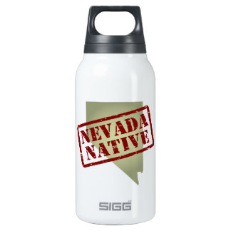 Nevada Native Stamped on Map Insulated Water Bottle