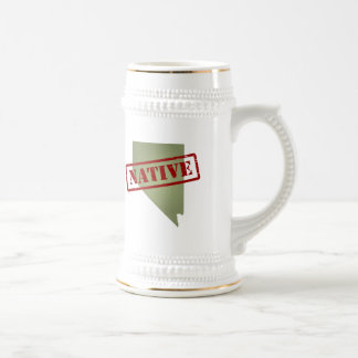 Nevada Native with Nevada Map Beer Stein