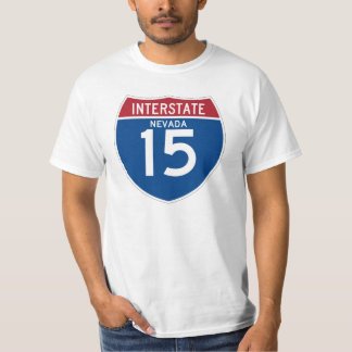 Nevada NV I-15 Interstate Highway Shield - T-Shirt