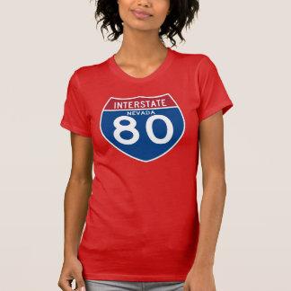 Nevada NV I-80 Interstate Highway Shield - T-Shirt