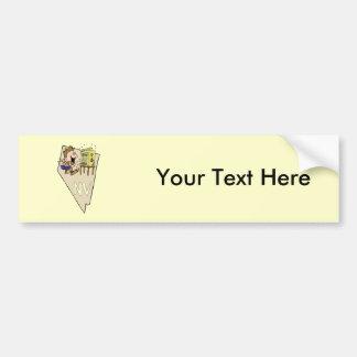 Nevada NV State Map & Gambler Jackpot Cartoon Bumper Sticker