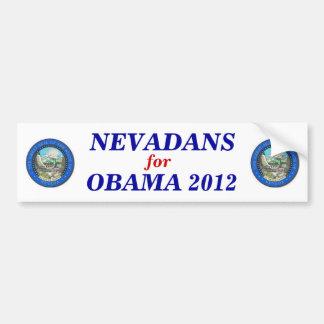 Nevada para el pegatina 2012 de Obama Pegatina Para Auto