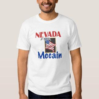 Nevada para la camiseta de Mccain Playeras