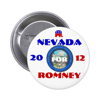 Nevada para Romney 2012 Pin Redondo De 2 Pulgadas