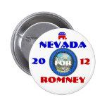 Nevada para Romney 2012 Pins