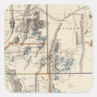 Nevada Pegatinas Cuadradas Personalizadas