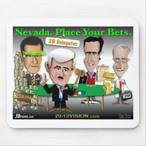 Nevada. Place Your Bets Mousepads