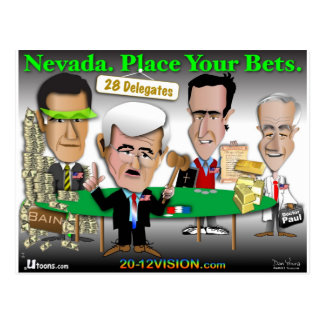Nevada. Place Your Bets Postcard