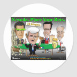 Nevada. Place Your Bets Round Stickers