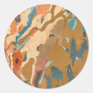 Nevada Plateau Geological Classic Round Sticker