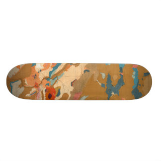 Nevada Plateau Geological Custom Skateboard