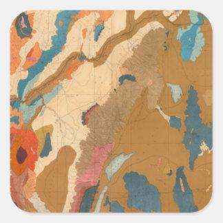 Nevada Plateau Geological Square Sticker