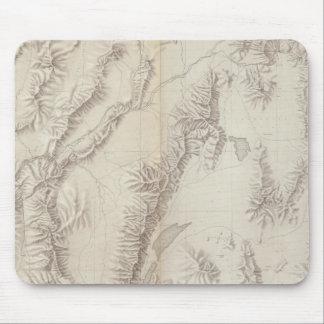 Nevada Plateau Topographical Mouse Pad
