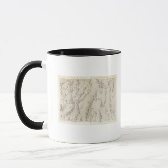 Nevada Plateau Topographical Mug