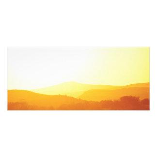 Nevada - puesta del sol sobre Nevada Tarjeta Publicitaria Personalizada
