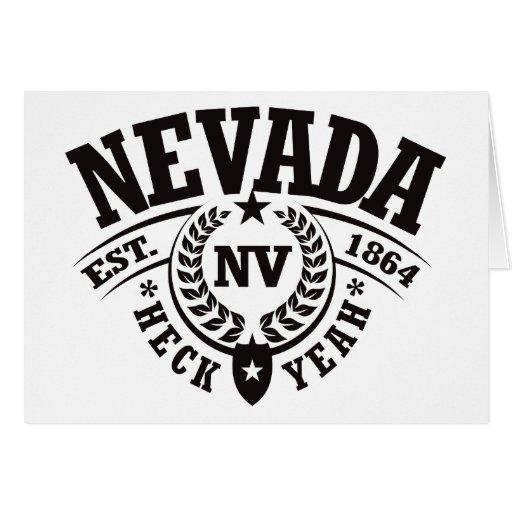 Nevada, puñetas sí, Est. 1864 Tarjeta De Felicitación