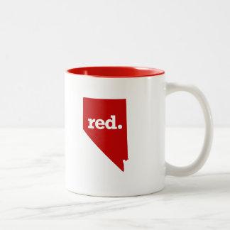 NEVADA RED STATE Two-Tone COFFEE MUG