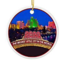 NEVADA Reno Ceramic Ornament