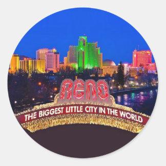 NEVADA Reno Classic Round Sticker