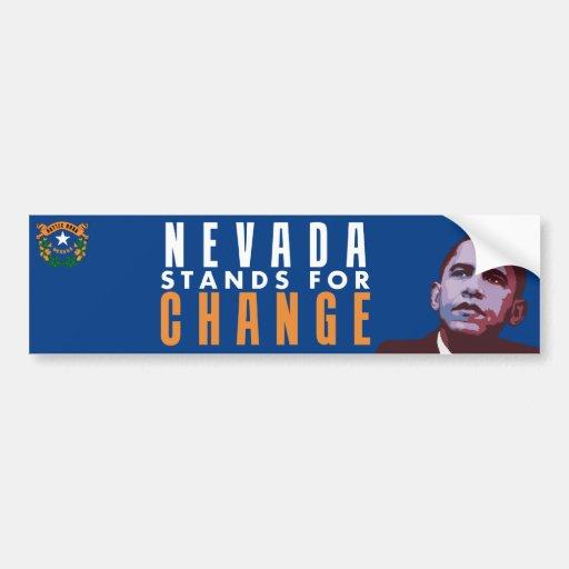 Nevada representa el cambio - pegatina para el par pegatina para auto
