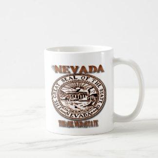 "Nevada""s Great Seal Design Classic White Coffee Mug"