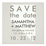 """Nevada Save the Date Cards 5.25"""" Square Invitation Card"""