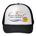 NEVADA SENIOR GAMES LOGOS ON EVERYTHING MESH HAT