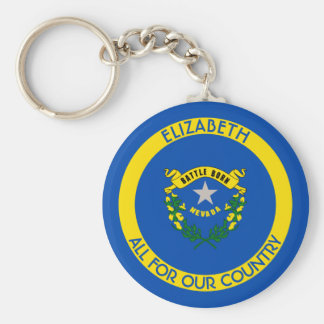 Nevada Silver State Personalized Flag Keychain