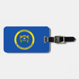 Nevada Silver State Personalized Flag Luggage Tag