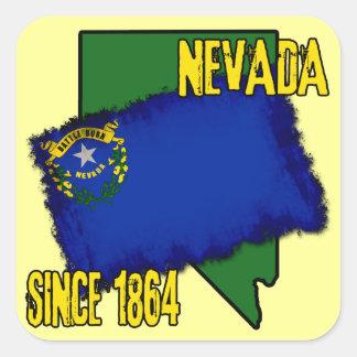 Nevada, Since 1864 Square Sticker