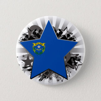 Nevada Star Pinback Button